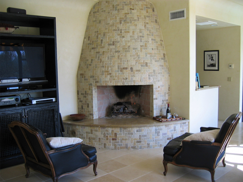 Fireplace : Alluring And Elegant Indoor Stone Fireplace Designs